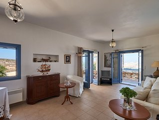 Parasporos Paradise Villa, quiet luxury villa, private pool, walk to beach