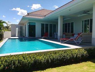 Villa tres confortable et spacieuse avec piscine pres de Hua-Hin, Thailande