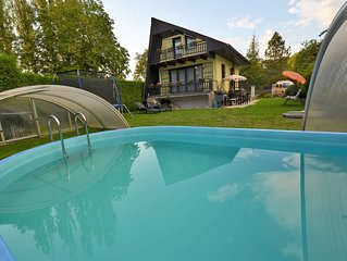 Cozy Chalet with Swimming Pool in Pilsen