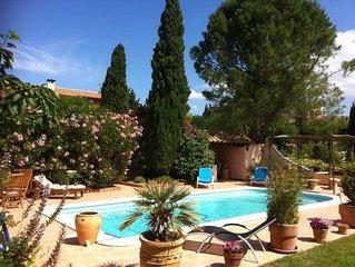 Maison avec grand jardin,piscine sur les hauteurs de Narbonne,a 4 km du centre