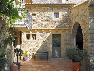 Holiday Home in Saint-Marcel-de-Careiret with Heated Pool