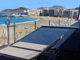 Espectacular Apartamento Primera Linea de la Playa y del Paseo de Las Canteras