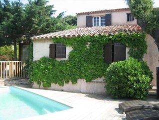 Villa à 2 minutes du centre de St Tropez et des plages Tahiti et pampelonne quar
