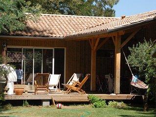 Longarisse maison de charme  bois dans cadre idyllique