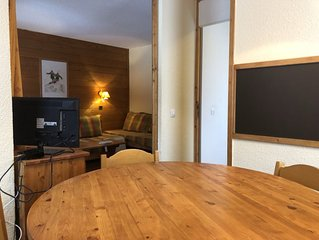 35 SQM Appartment close to the slopes and the center of Valmorel