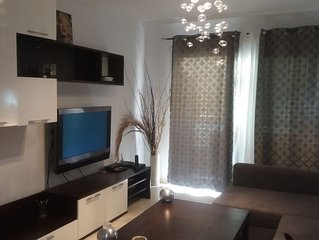 Beach front one bedroom apartment in los cristianos, satellite tv and balcony