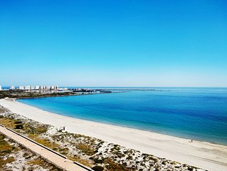 Beachside Penthouse with Stunning Sea Views to Mediterranean and Mar Menor Sea