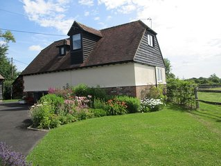 Barn conversion in beautiful, peaceful, rural location with stunning views.
