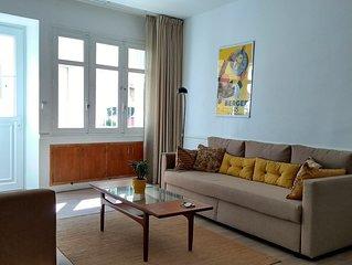 Spacious light ground floor 1 bedroom apartment in historic village centre