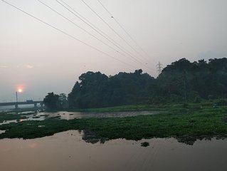 Inside the CITY but village atmosphere, calm and serene, opens to the river