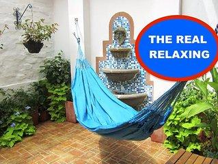 Comfort Relaxing In Blue. San Antonio