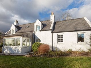 Traditional Skye Crofter's Cottage sleeps six close to mountains, sea and beach
