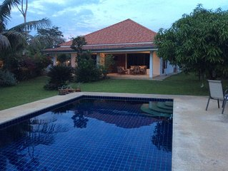Villa 130 m2 and own pool. The house has 3 rooms for 5 adults + 2 children.