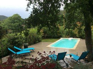 Belle villa de plein pied climatisée avec piscine, vue imprenable !
