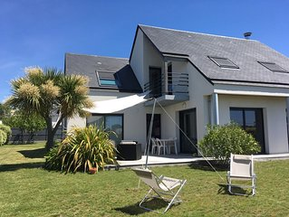 Maison confortable dans le Golfe du Morbihan à 400m de la plage et l'embarcadère
