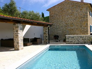 Villa Kentic Stone Holiday house with pool and stunning views