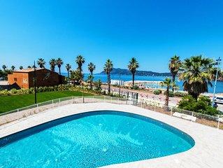 Appartement avec une vue sur la mer ! Proche de la plage + acces piscine