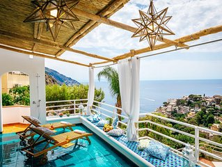Eden House Positano, Amazing Seeview Apartment Car Parking shared pool