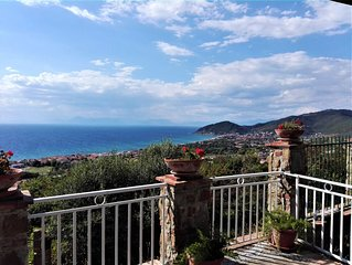 CILENTO PANORAMIC APARTMENT WITH LARGE PATIO