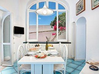 Villetta Caprile apartment in Anacapri with air conditioning & balcony.