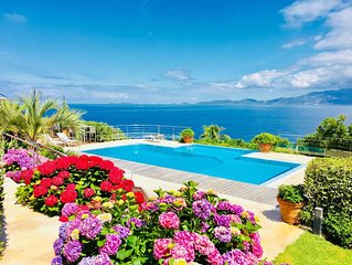 A stunning Corsican Villa with amazing 180° sea views and infinity swimming pool