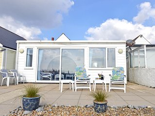 Beach Cottage (3 bed) in Pevensey Bay, set on glorious private pebble beach