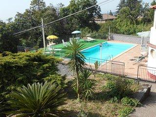 Panoramicissima Casavacanza in Villa con Piscina alle falde dell'etna SUNSET