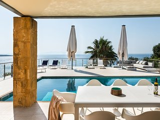 Villa Anton  Sea front Villa with Private  Heated Swimmingpool  Chania Crete