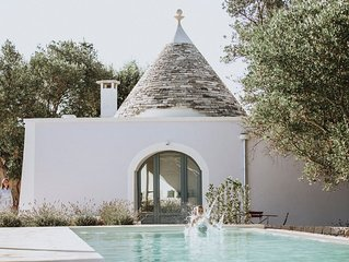 180 degree sea view Trullo renovated with a modern twist