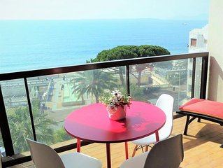 EXCEPTIONNEL-TERRASSE -VUE MER et PLAGES PANORAMIQUE ,NEUF ,STANDING,WIFI, CLIM