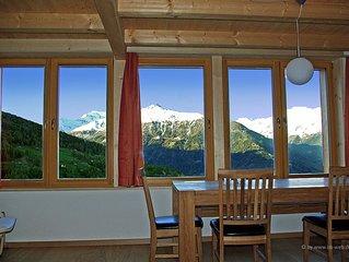 nouveau Chalet à Mase dans le Val d'Hérens pour 6 personnes