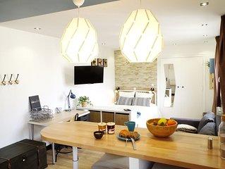 Studio-Apartment-Private Bathroom-Garden View-Proudhon
