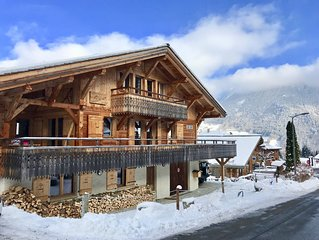 Chalet le Dahu - just 50m to the lift, sauna & steam room, comfortably sleeps 12