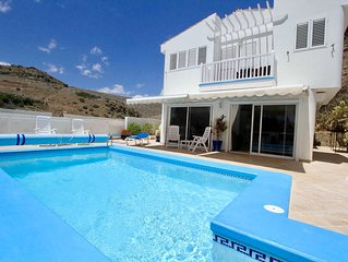 * A Beautiful Villa with Private Solar Heated Pool, Air-Conditioned & Wi Fi