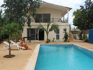 Villa 5 chambres - Climatisee avec Piscine - La Maison des Voyageurs - Warang
