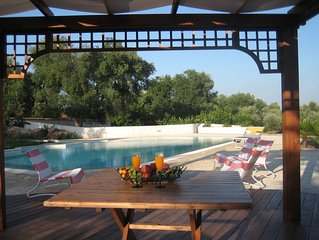 Tenuta Placella in olive grove with private swimming pool. 5 km from sandy beach