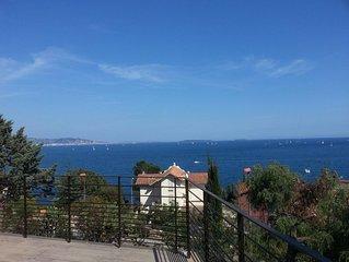 Vue mer  panoramique - Mazet Belle terrasse - Piscine - 5 mn à pieds des plages