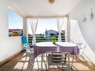 Two bedroom apartment with terrace and sea view Mandre (Pag) (A-13015-b)
