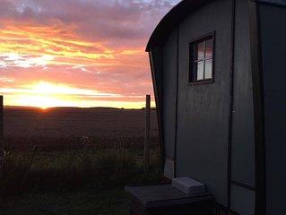 Fenton Shepherd's Hut in stunning countryside in the heart of Cambridgeshire