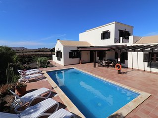 Charming large 4 bedroom villa with a private heated pool, WiFi and much more.