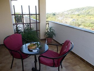 One bedroom apartment with terrace and sea view Pašman (A-14788-b)