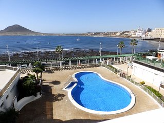 Nice Apartment with pool and magnific sea views in El Medano