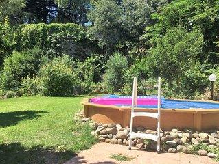 Appartamento con veranda, piscina e giardino