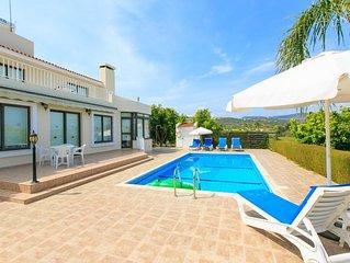 Villa Bougainvillea: Large Private Pool, Sea Views, A/C, WiFi, Eco-Friendly