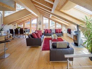 Spacious loft apartment with stunning Matterhorn views.