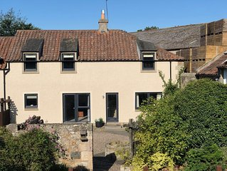 A beautiful recently renovated modern but homely cottage by St Andrews.