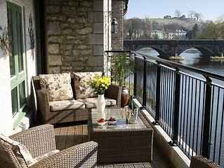 Luxury riverside apartment between Lake District and Yorkshire Dales