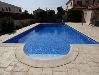 Luxurious villa near Larnaca with large private swimming pool, free wi fi