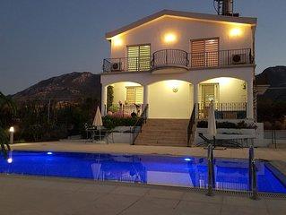 'VILLAMINA' Stunning Panoramic Sea and Mountain Views Beautiful Pool and Gardens