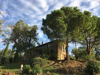 Italiaans vakantiehuis met zwembad en schitterend uitzicht over de Tibervallei.